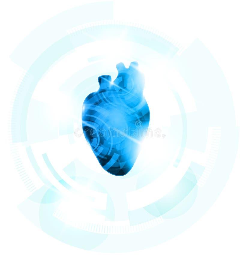 Download Голубая форма сердца иллюстрация вектора. иллюстрации насчитывающей cardiogram - 41655693