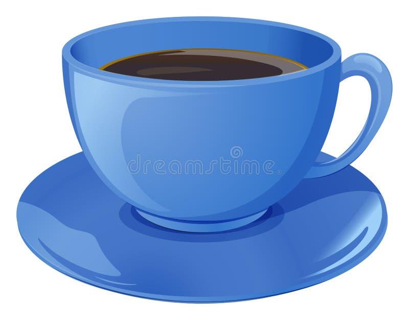 Голубая чашка с кофе бесплатная иллюстрация