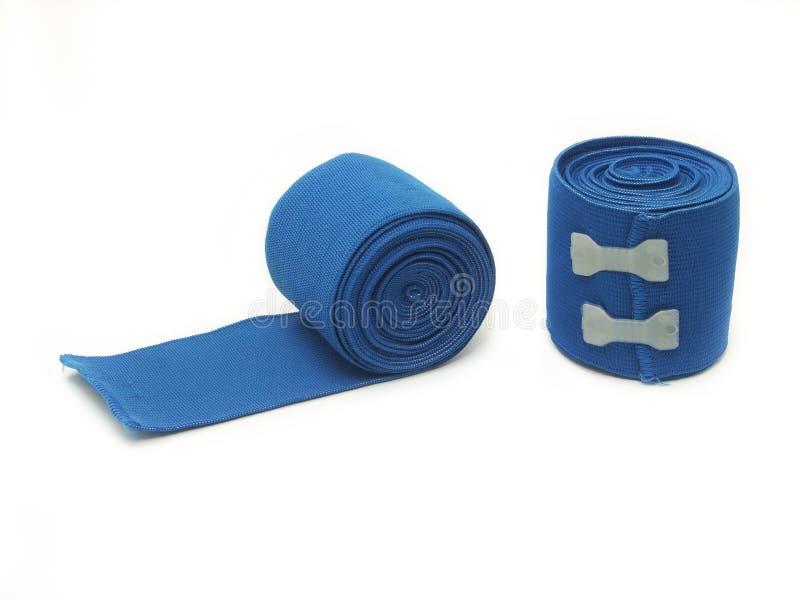 Голубая эластичная повязка стоковое изображение