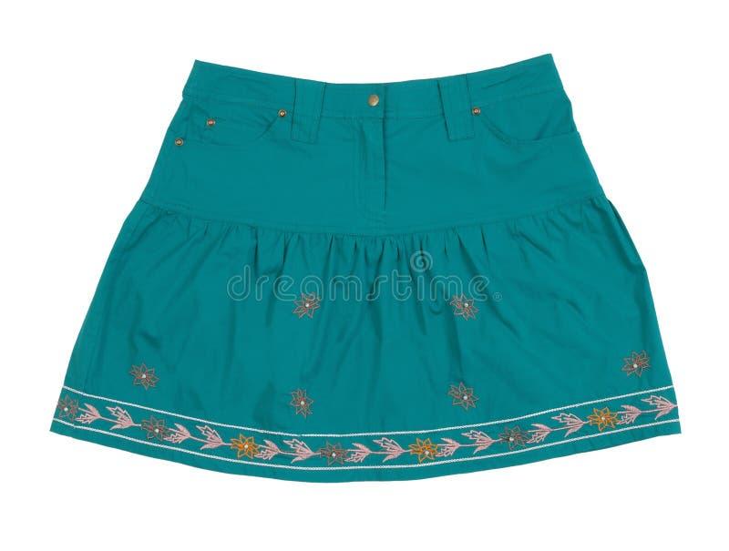 Голубая юбка стоковые фотографии rf
