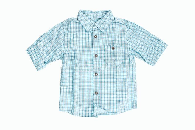 Голубая checkered рубашка стоковые изображения