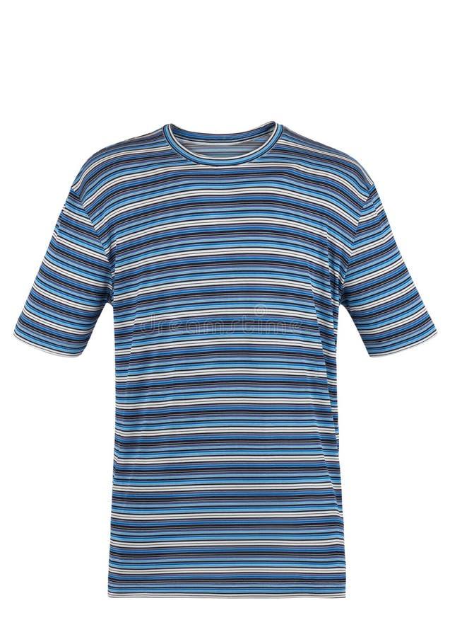 Голубая striped футболка стоковая фотография rf