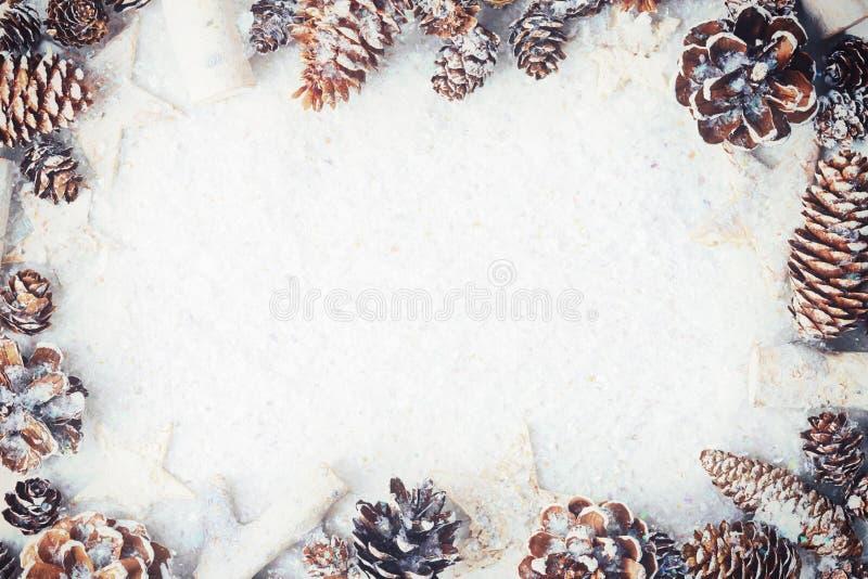 голубое волшебство рамки рождества стоковое фото