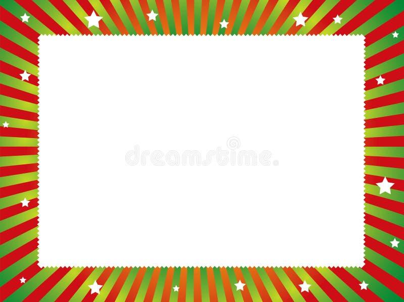 голубое волшебство рамки рождества иллюстрация вектора