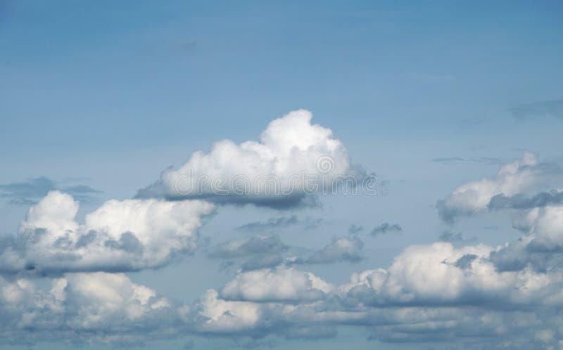 Голубое небо с облаками в лете стоковые фото