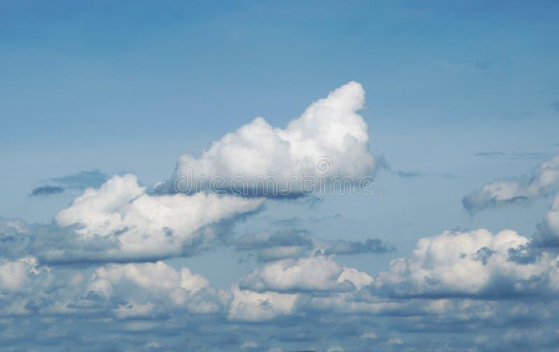 Голубое небо с облаками в лете стоковая фотография rf