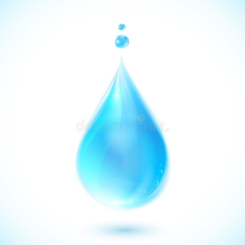 Голубое падение воды вектора на белой предпосылке бесплатная иллюстрация