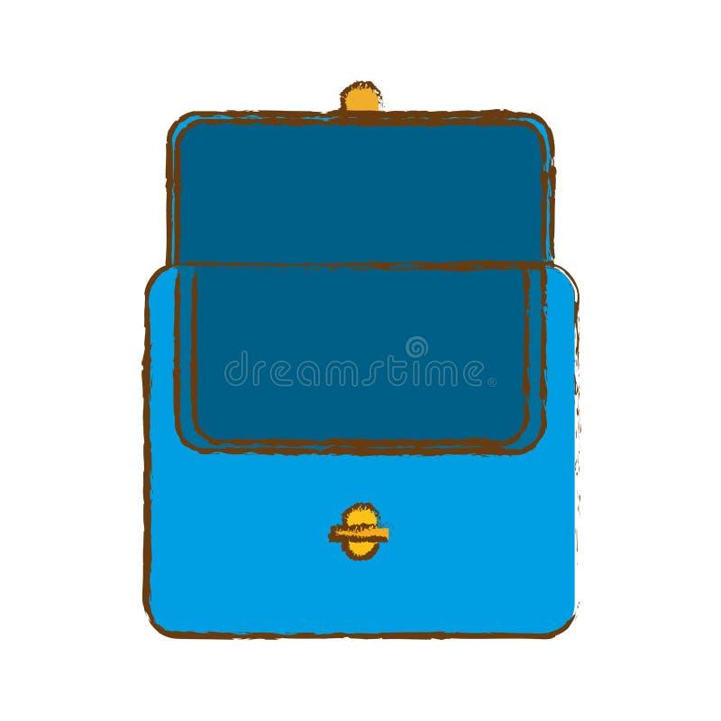 Голубое портмоне для хранить деньги бесплатная иллюстрация