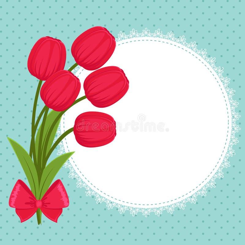 голубое приветствие конструкции карточки флористическое бесплатная иллюстрация