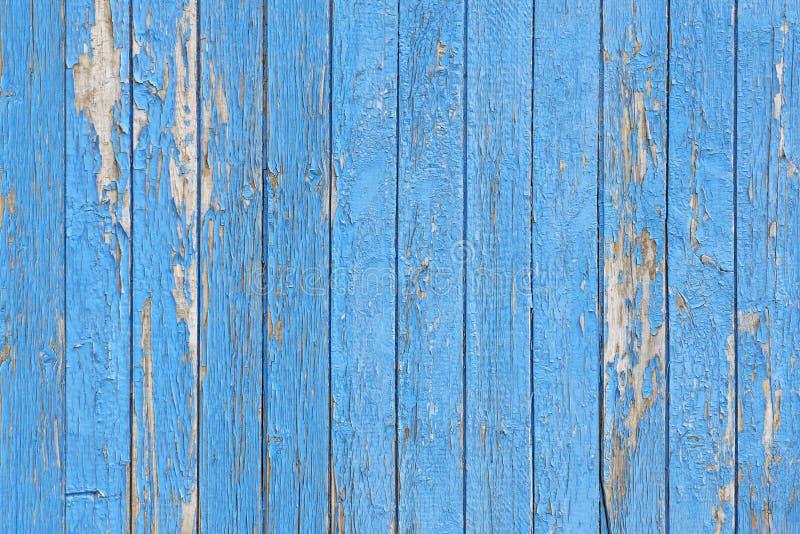 Голубое шелушение покрасило деревянные планки как предпосылка или текстура стоковое изображение rf