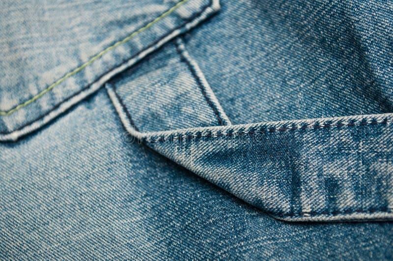 Голубое jean& x27; предпосылка текстуры брюк s стоковые фотографии rf