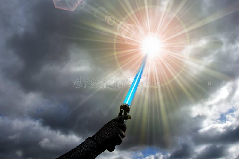Голубое lightsaber стоковые изображения rf