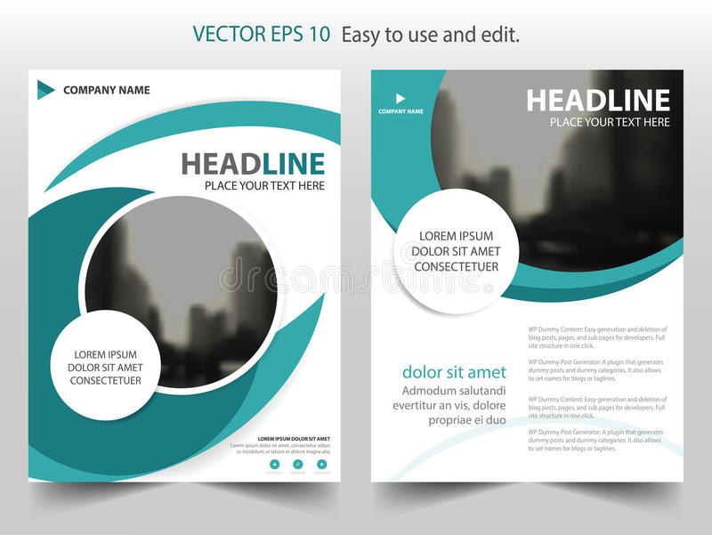 Голубой абстрактный вектор шаблона дизайна брошюры годового отчета круга Плакат кассеты рогулек дела infographic