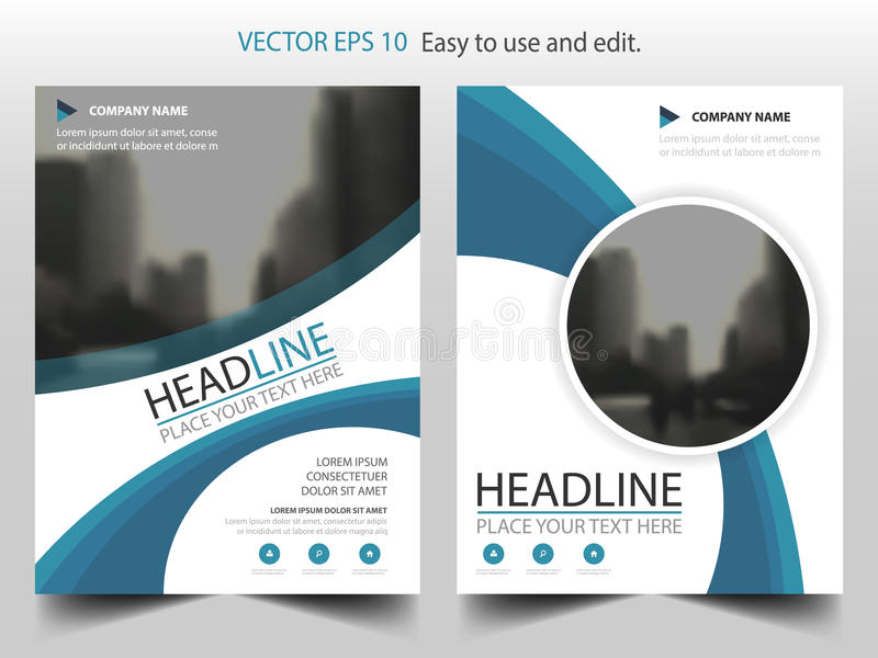 Голубой абстрактный вектор шаблона дизайна брошюры годового отчета круга Плакат кассеты рогулек дела infographic абстрактный план бесплатная иллюстрация