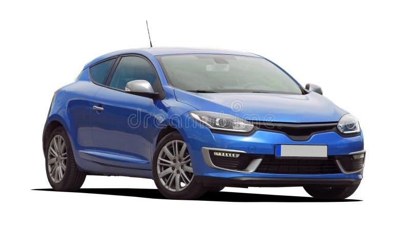 голубой автомобиль стоковое фото rf