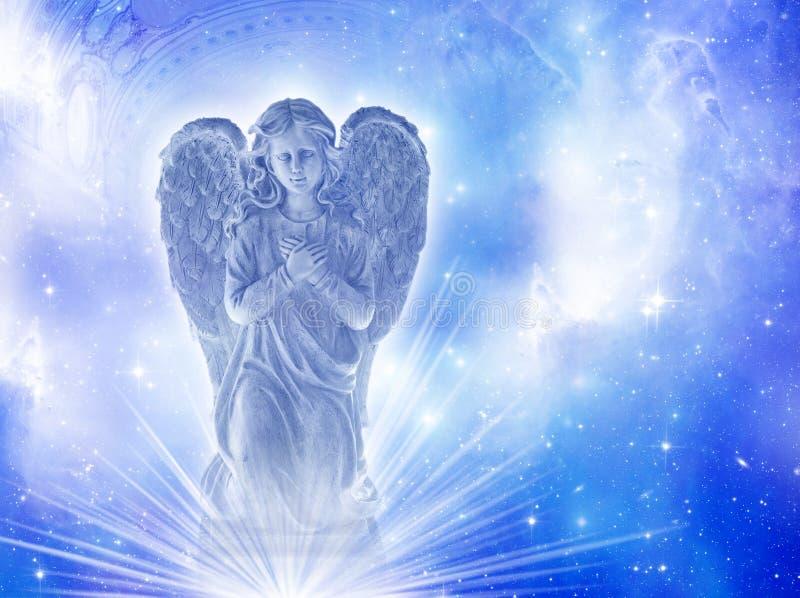 Голубой ангел стоковое изображение