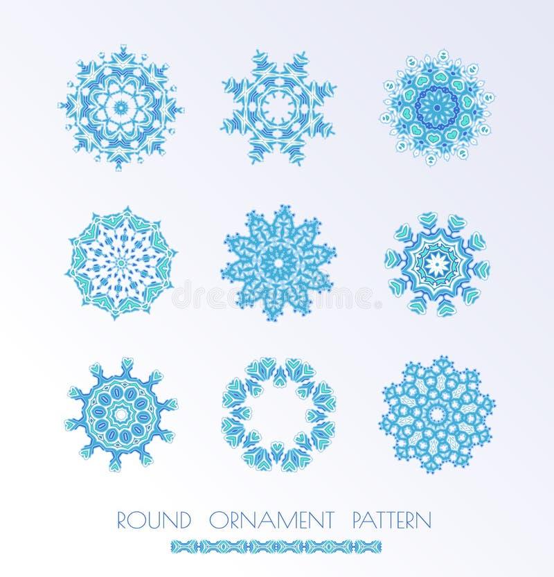 голубой вектор снежинок иллюстрация штока