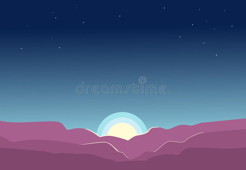голубой восход солнца стоковая фотография rf