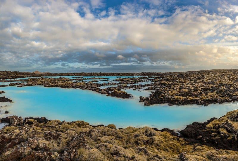 Голубой горячий источник лагуны, Исландия стоковые изображения