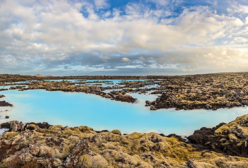 Голубой горячий источник лагуны, Исландия стоковое фото rf
