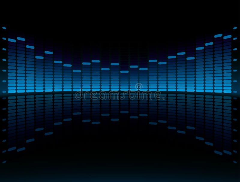 голубой график выравнивателя дисплея иллюстрация штока