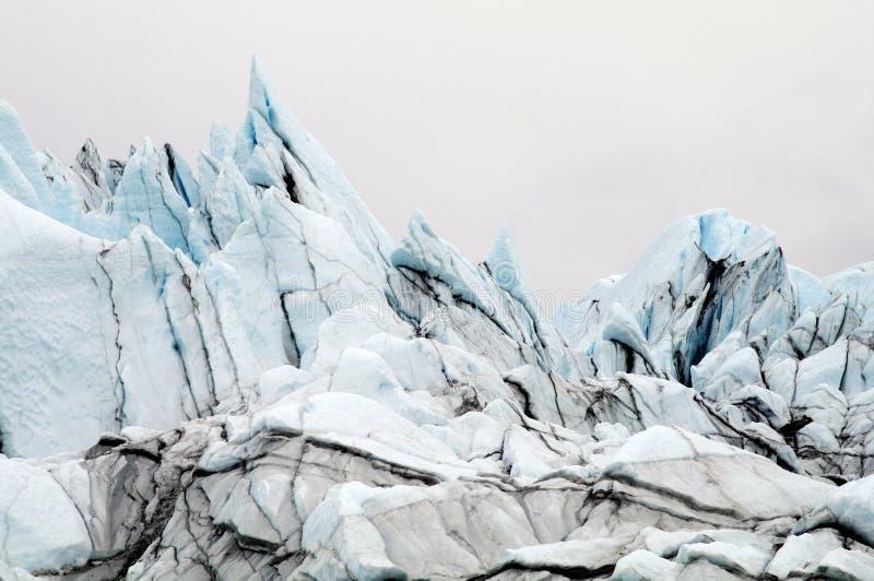 Голубой лед ледника Matanuska Аляски стоковые изображения rf