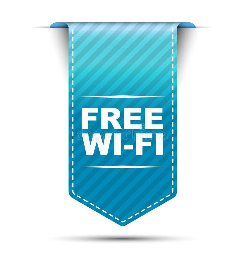 Голубой дизайн знамени освобождает Wi-Fi иллюстрация штока