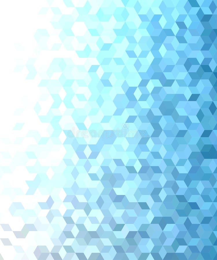 Голубой дизайн предпосылки картины мозаики куба 3d бесплатная иллюстрация