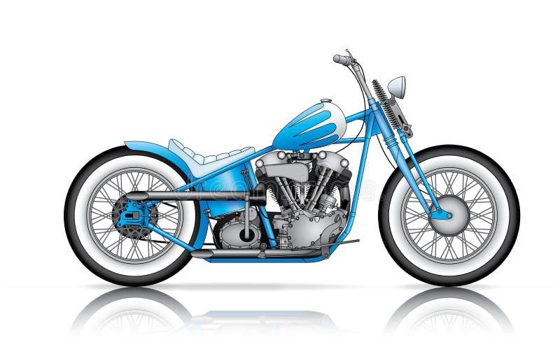 Голубой изготовленный на заказ bobber бесплатная иллюстрация