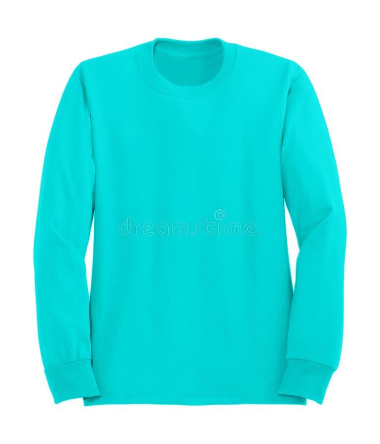Голубой изолированный свитер стоковые изображения rf