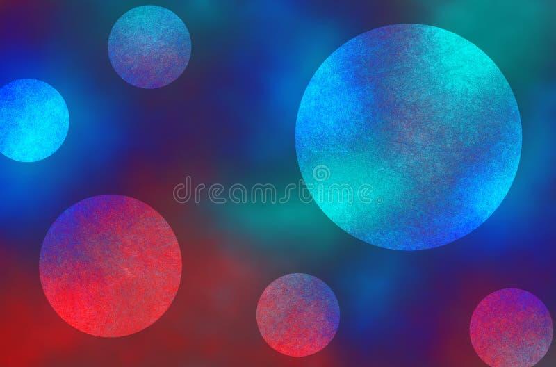 Голубой и красный темный и светлый конспект объезжает предпосылку стоковое изображение rf