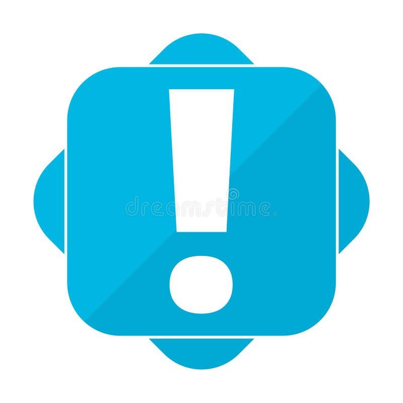 Голубой квадратный восклицательный знак бесплатная иллюстрация