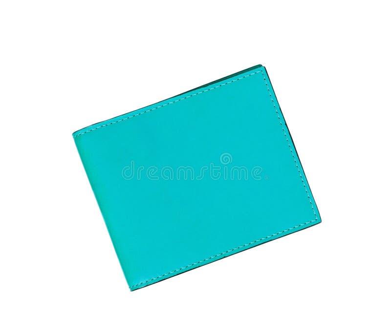 Голубой кожаный блокнот случая стоковая фотография