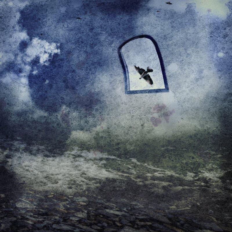 Голубой кошмар стоковая фотография rf