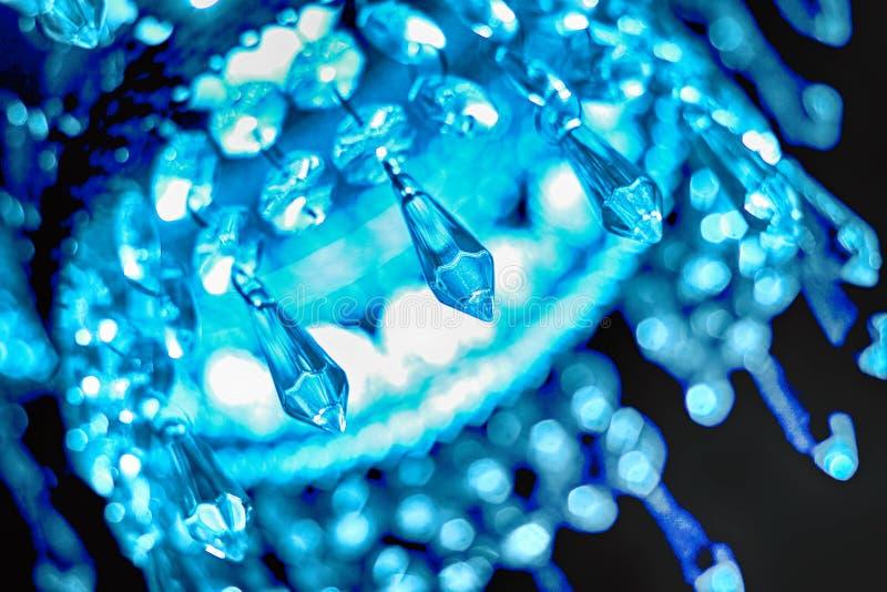 голубой кристаллический блеск стоковые фотографии rf
