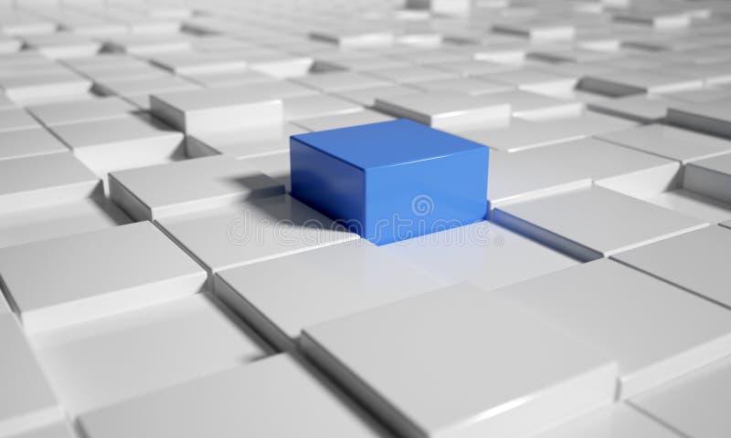 Голубой куб Стоковые Изображения