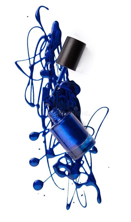 Голубой маникюр стоковые фотографии rf