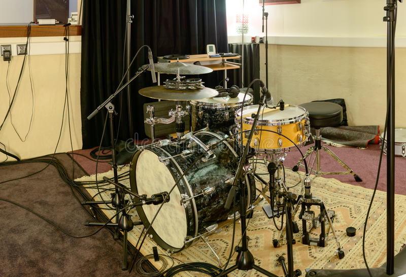 голубой набор барабанчика стоковое изображение