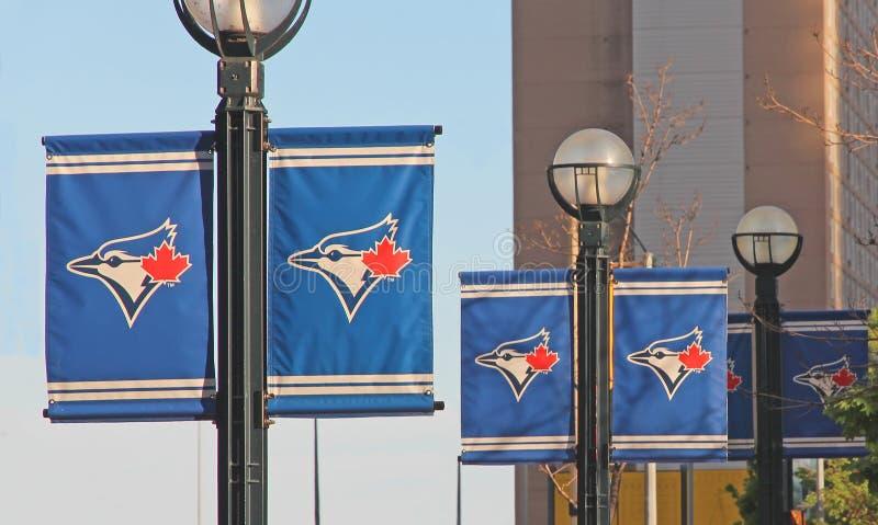 голубой логос jays стоковое фото rf