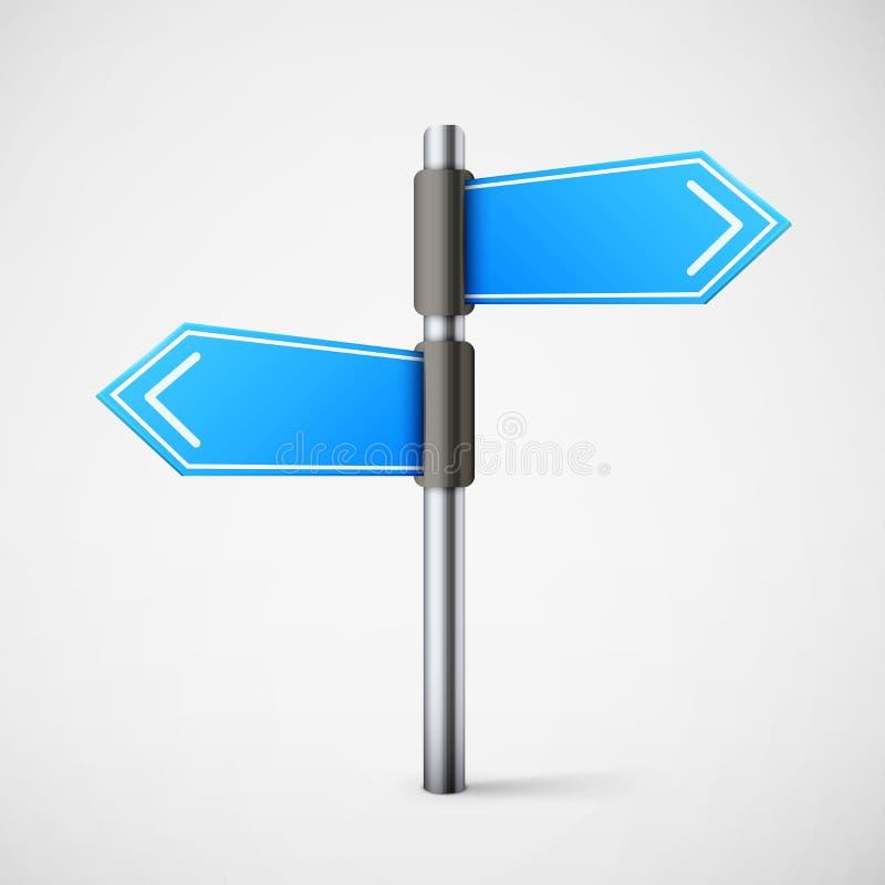 Голубой дорожный знак направления бесплатная иллюстрация