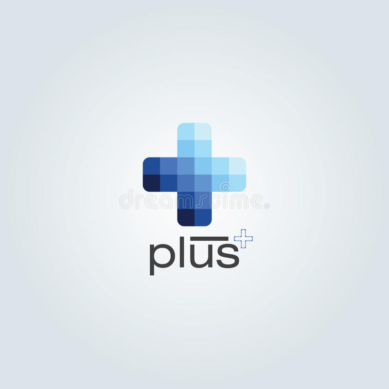 Голубой однокрасочный цвет плюс дизайн бесплатная иллюстрация