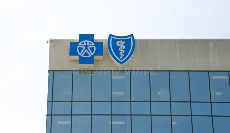 Голубой перекрестный голубой экран стоковая фотография