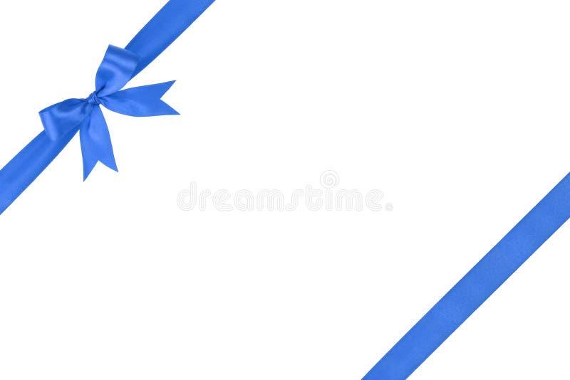 Голубой простой связанный состав смычка ленты стоковые изображения