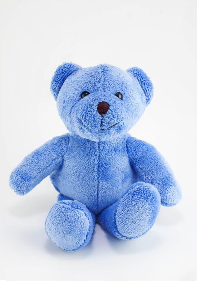 Голубой плюшевый медвежонок стоковая фотография