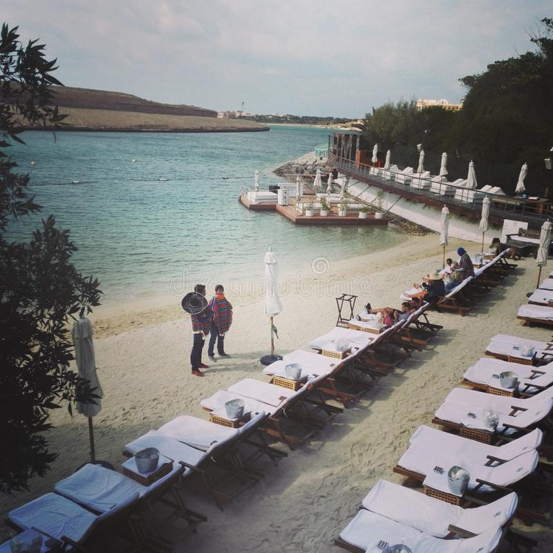 Голубой пляж Ibiza ОАЭ Марлина частный стоковое изображение rf