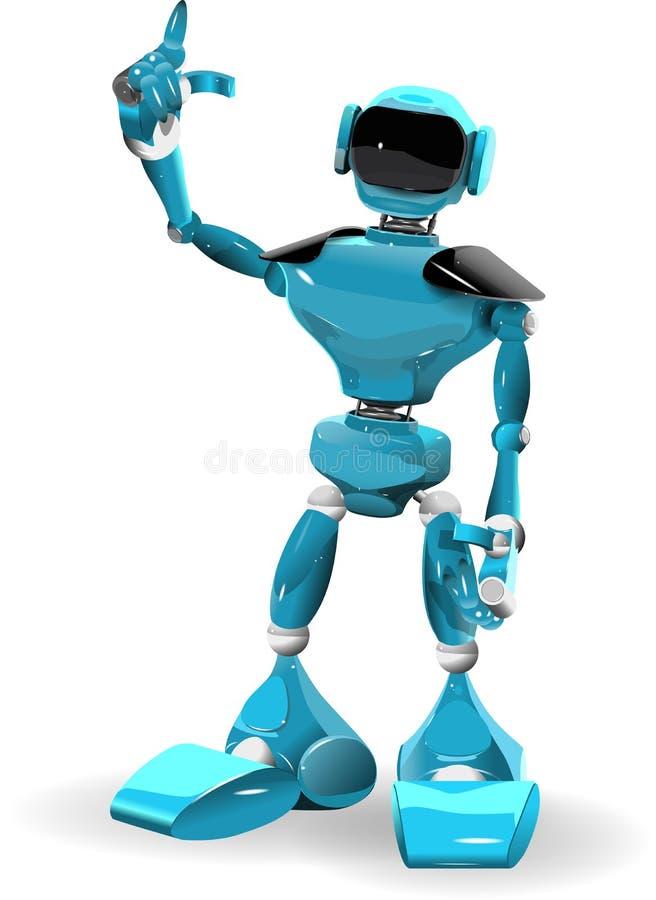 1 голубой робот иллюстрация штока