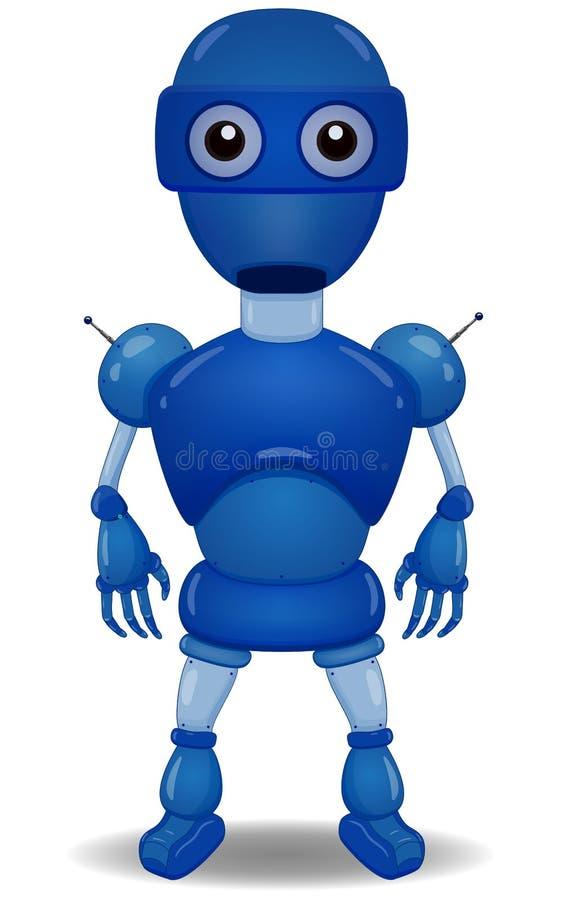 1 голубой робот бесплатная иллюстрация