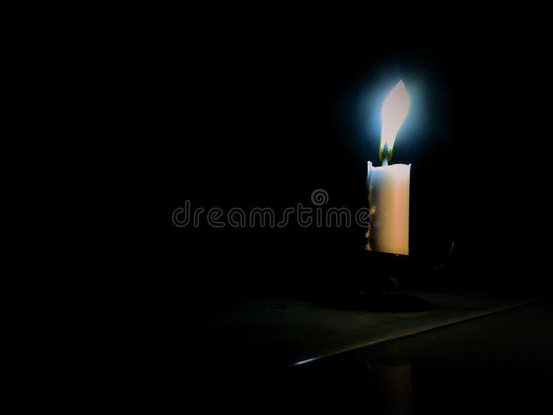 Голубой свет на моем визировании стоковая фотография rf