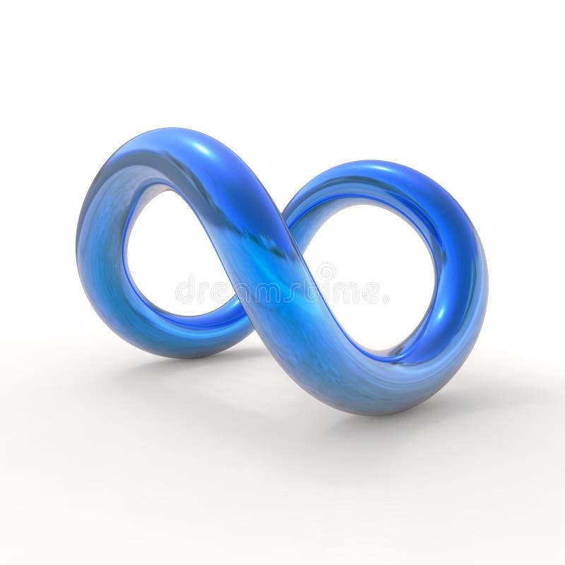 Голубой символ безграничности иллюстрация вектора
