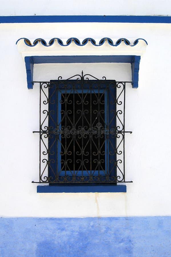 голубой строить окон стоковое фото